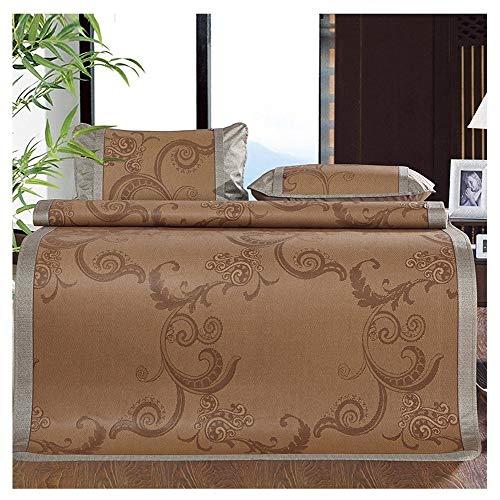 Dream catcher Summer Sleeping Mat Mattress Rattan Grass Soft Smooth Breathable Single Bed Multifunction Foldable - 1 Pillowcase (Bamboo Dream Catcher)
