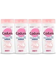 Cadum Crème Douche au Talc Surdoux Huile d'Amandes Douces Bio et Crème de Talc 400 ml - Lot de 4