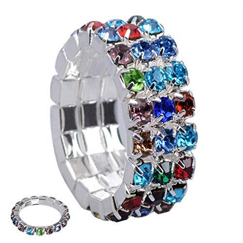 ldiamantring Damen Strass Zehenring weiblich Dehnbarer Ring ()