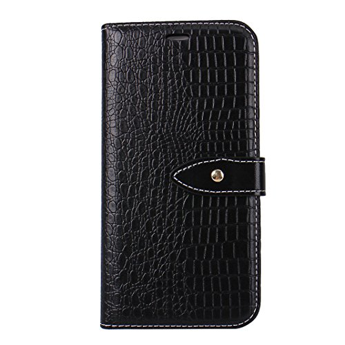 Etui Housse iPhone X Case,Coque Cuir iPhone X Housse Rosa Schleife iPhone 10 Folio Cuir Portefeuille Ultra Slim Leather Wallet arriere Housse Book type Téléphone etui de protection Pochette etui a rab Noir