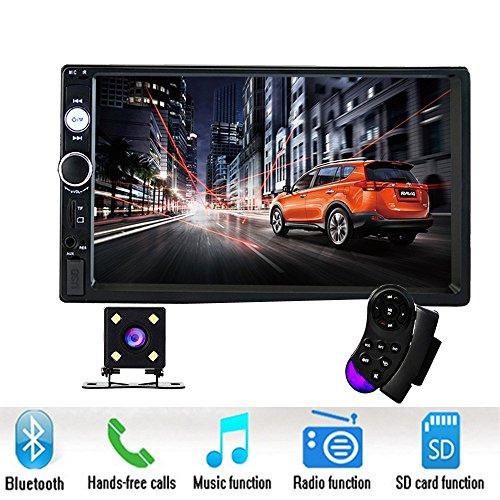 Podofo double DIN Car Stereo7 'lecteur HD MP5 écran tactile en Dash Affichage digital Bluetooth USB...