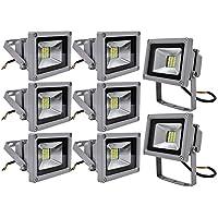 Leetop 8X 20W Luz Blanca Fría SMD Proyector LED Proyector de Exterior Proyector