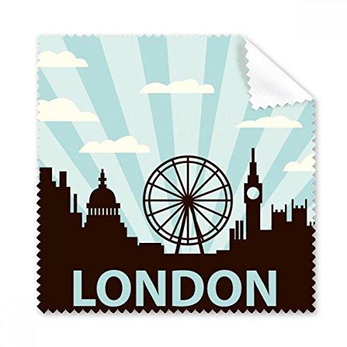 DIYthinker Großbritannien UK London Eye Silhouette Vereinigtes Königreich Brillenputztuch-Reinigungstuch Geschenk Telefon Screen Cleaner 5pcs