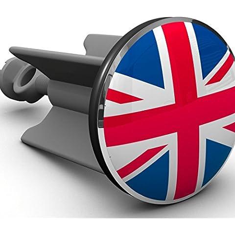 Plopp Tappo per il Lavabo Bandiera Britannica Union Jack, Tappo per Lavandino, Lavello