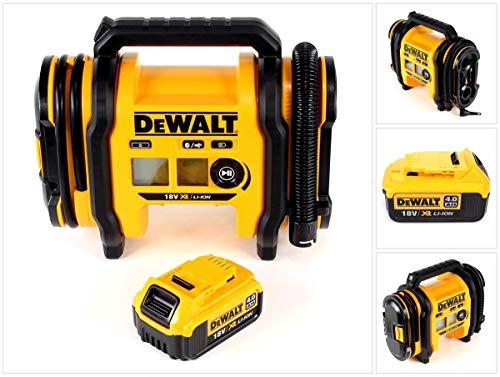 DeWalt DCC 018 - Compressore d\'aria agli ioni di litio da 18 V, 11 bar, con 1 batteria da 4,0 Ah, senza caricatore, senza valigetta