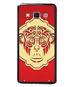 PrintVisa Designer Back Case Cover for Samsung Galaxy A5 (2015) :: Samsung Galaxy A5 Duos (2015) :: Samsung Galaxy A5 A500F A500Fu A500M A500Y A500Yz A500F1/A500K/A500S A500Fq A500F/Ds A500G/Ds A500H/Ds A500M/Ds A5000 (Mammal Graphic Design Background Symbol Pattern)