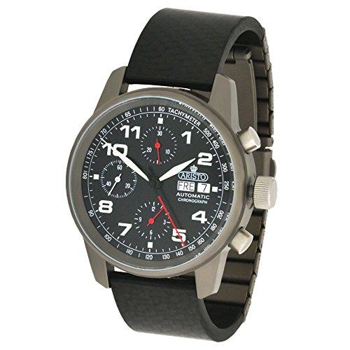 Aristo Unisex Armbanduhr Automatik Chronograph Titan Carbon Saphirglas 5H99 ETA 7750 Uhrwerk Swiss Made