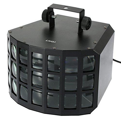 Lixada 90W DMX512 DJ Mini Dekker Bühnentechnik Ton Aktivierte Selbstbetrieb 7 Kanäle RGBW Farbwechsel Bühnenstrahllichteffekt Lampe 2 LEDS