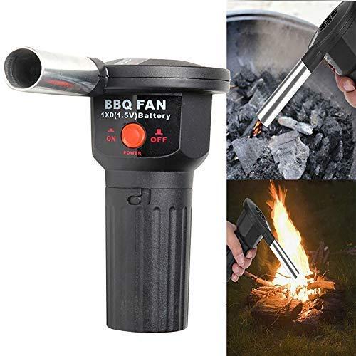ulofpc Tragbare Outdoor-Grill Gebläse Grill Holzkohle-Starter Holzkohle-Verbrennungsbrenner 1,5 V DC Batterie elektrische Gebläse Grill-Fan Kreative Camping-Grill-Tool