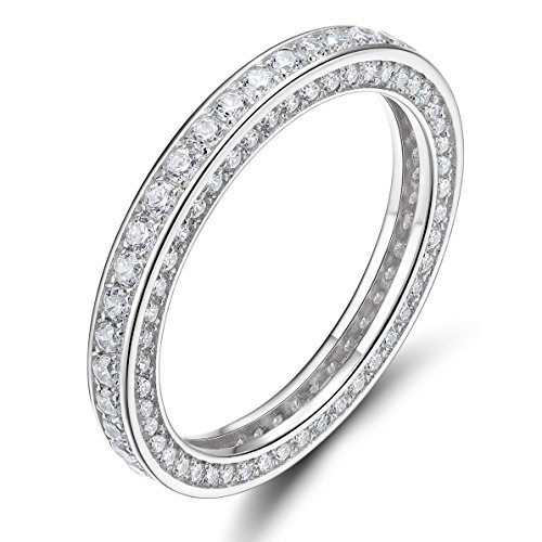 Sterling Silber Vergoldet Criss Cross X Ringe (Eternity Ring - 4mm, 49 (15.6))