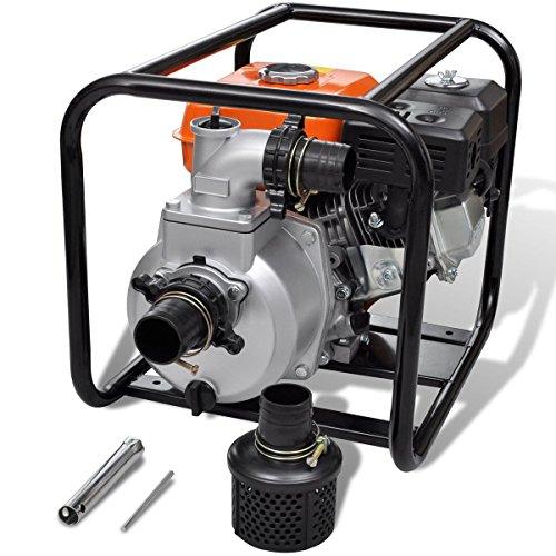 vidaXL 6,5PS Benzin Schmutzpumpe Wasserpumpe Gartenpumpe Kreiselpumpe Teichpumpe