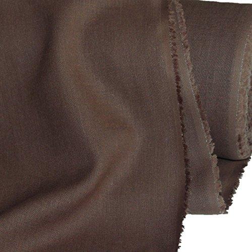 TOLKO Leinen-Stoff Meterware zum Nähen, blickdichter Naturstoff für Bekleidung, Gewänder, Vorhänge und Deko (Nuss-Braun) (Stoff, Material Zum Nähen)