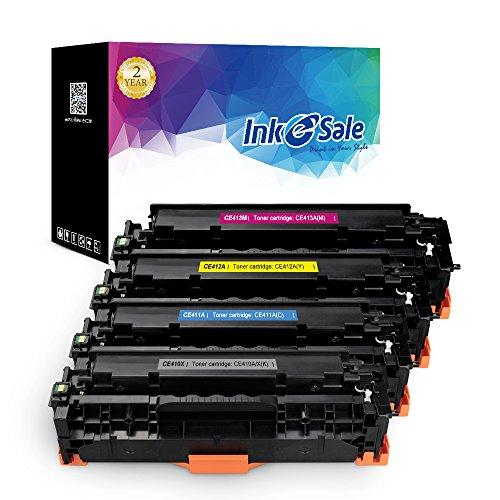 INK E-SALE 4x Toner kompatibel zu HP CE410X CE410A CE411A CE412A CE413A für HP Color Laserjet Pro 300 400 M351 M375 M451 M475 Drucker Schwarz Cyan Magenta Gelb