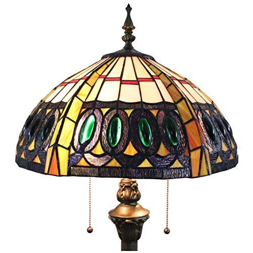 Tiffany Stil Hohe 64 Zoll Pfauen Schwanzfeder Glasmalerei Bodenleuchte ()