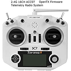 LITEBEE Frsky Taranis Q X7 Transmisor 16 Canales ACCST RC Transmitter Compatibile Frsky Receptor Adecuado para FPV Racing RC Drone Quadcopter by (White)