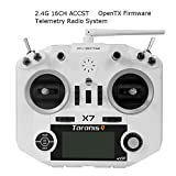 FrSky Taranis Q X7 Sender ACCST 2.4GHz 16CH RC Frsky Transmitter kompatibel mit Frsky Empfänger for FPV Racing Drone Quadcopter by LITEBEE ( White )