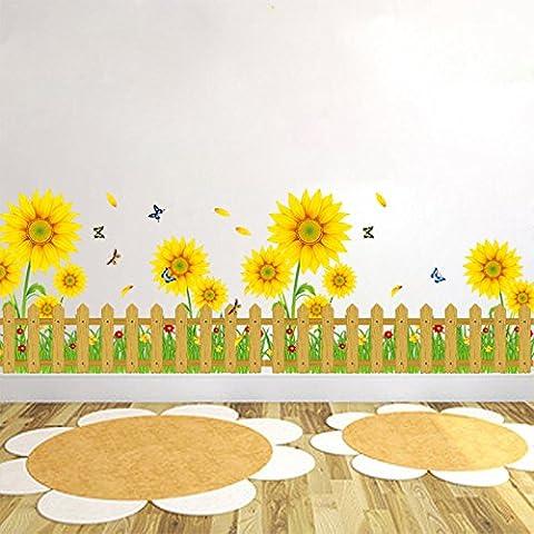 Girasoli di nuovo salotto creativo decorativo baseboard muro Adesivi sfondo