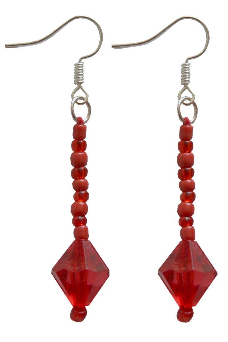 Orecchino Orecchini pendenti Rina rosso (0028)