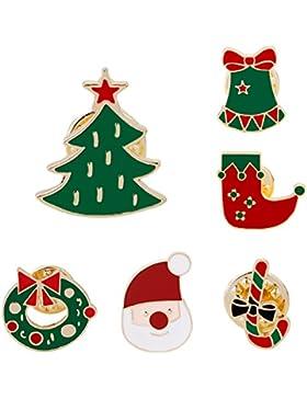 juanya rot Weihnachten Brosche Pin Weihnachten Geschenk 6pcs/set