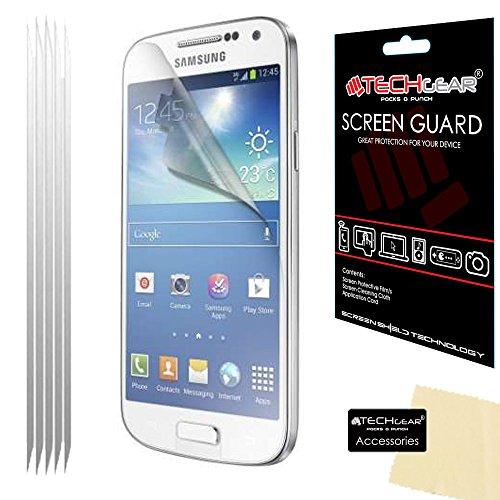 Techgear - Protectores de pantalla LCD para Samsung Galaxy S4 i9500 y i9505 (5 unidades)