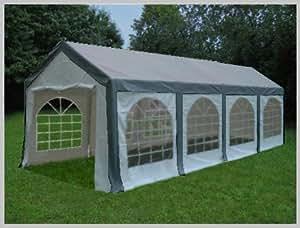 Pavillon Pavillion Festzelt Partyzelt Modular Pro PE 4x8 8x4 4x8m 8x4m MIT Fenster grau