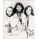 BEE GEES AUTOGRAPH PRINT APPROX SIZE 12X8 INCHES by 12X8 INCHES