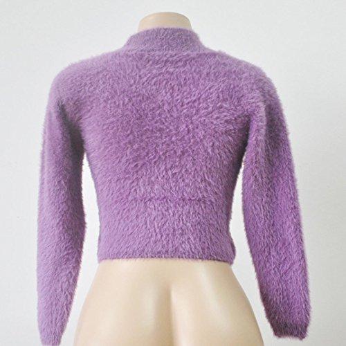 Transer - Pull - Femme Whtie Taille Unique Violet