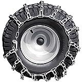 Einhell Traktor Rasenmäher Zubehör Schneeketten Set (Reifengröße 18 x 8,5-8, Passend für Einhell Traktor Rasenmäher GE-TM 102 B&S und GE-TM 911 B&S)