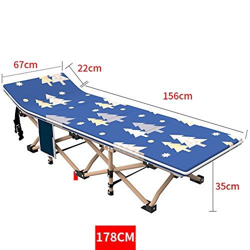 DEO Fauteuils inclinables Lit de camp de lit de Siesta pour des adultes, lit de lit pliant facile et portatif avec le sac de transport.