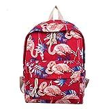 Harajuku Flamingo Print Tasche Junge Mädchen Reiserucksack
