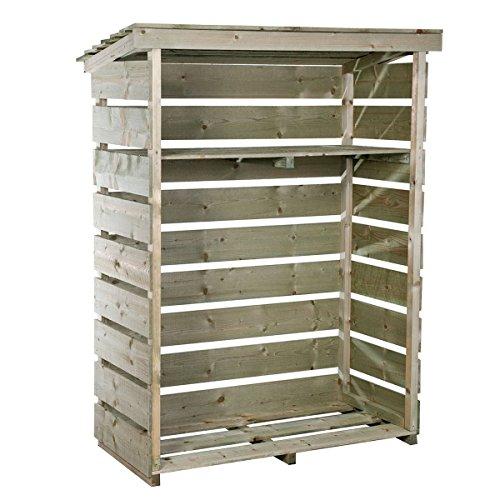 Lager/Regal/Stapelhilfe für Brennholz/Kaminholz/Holzstapel - Klein & robust