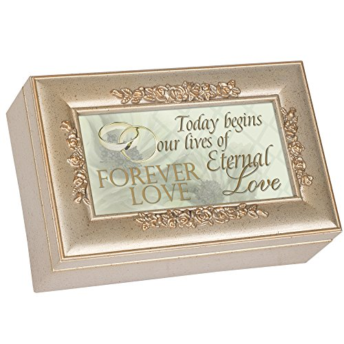 Cottage Garden Today Begins Forever Love Wedding Music Jewelry Box Plays You Light Up My Life