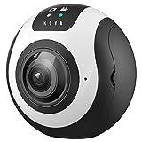 BANAUS Nova 360° 4K ad Alta risoluzione VR Fotocamera con Funzione di WiFi/Compatibile con Android o iOS/Wireless sferica