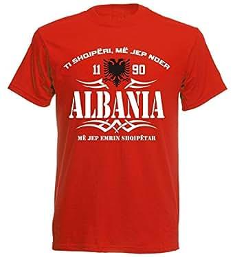 Albanien EM 2016 T-Shirt - S M L XL XXL - rot nc-003 - WM 2018 - Fußball  FIFA Fussball- Weltmeisterschaft Russland 2018