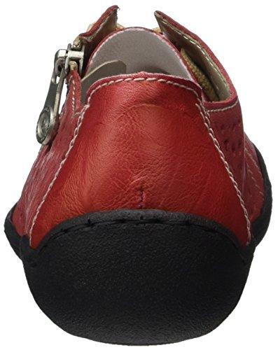Rieker 58825, Derby Femme Rouge (Rosso/rot / 33)