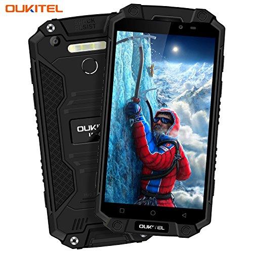 Outdoor Handy, Oukitel K10000 Max 5.5 Zoll 10000mAh Akku IP68 Wasserdichte Stoßfest Staubdicht Robuste 4G Smartphone Android 7.0 16MP+8MP dual Kameras FHD 1920*1080pixel 3GB RAM 32GB ROM Fingerabdruck