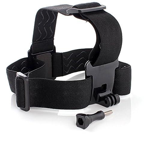 Neuftech® Casque tête sangle ceinture élastique caméra monture fixe serre-tête anti-dérapant pour Gopro Hero 4 (Mano Regolabile Strap)