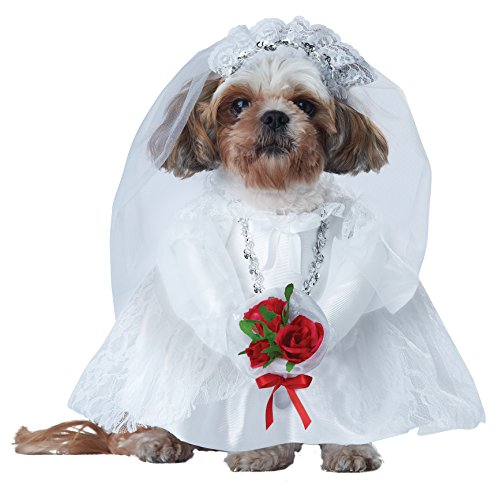 California Costume Collections Puppy Love-Bride Hundekostüm, Large, Multi