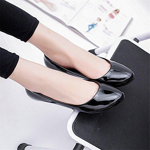 TMKOO 2017 nouvelle pente avec une chaussure mère ronde de chaussures unique OL chaussures de carrière occasionnels Noir