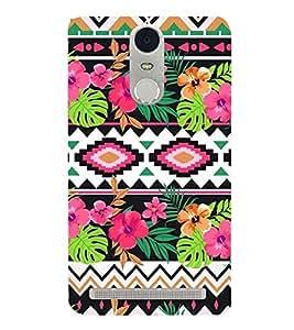 HiFi Designer Phone Back Case Cover Lenovo K5 Note :: Lenovo Vibe K5 Note Pro ( Flowers Colorful Pattern Design )