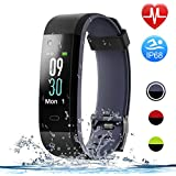 HolyHigh Smart Watch,Waterproof Fitness Tracker Heart Rate Sleep Monitor Pedometers Step Calorie Counter Call Whatsapp Messages Alet Alarm Men Women Boys Smart Band for Andriod iOS Phone