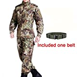 Táctica hombres BDU combate Uniforme Chaqueta Camiseta & Pantalones Traje Mandrake Kryptek para Airsoft, Paintball Militar del Ejército Caza Juego de Guerra, Mandrake Kryptek
