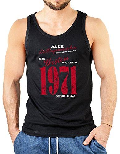 Alle Lieblingsmenschen werden gleich geschaffen die Besten wurden 1971 geboren Herren Jahrgangs/Geburtstags-Top Schwarz