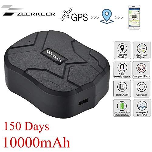 GPS Tracker , 10000MAH GPS Ortung, Wasserdicht Echtzeit tracking GPS Locator, Professional Anti-verloren ,GPS Alarm Car Tracker für Auto lkw Moto Gefrier Boot mit Freier APP