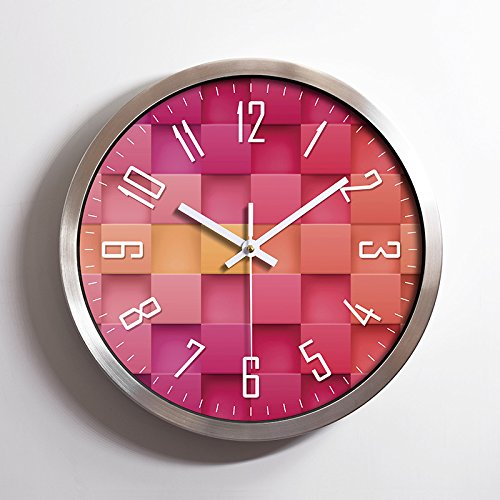 Foxtop 30 cm Grandes interior/exterior Reloj de pared silencioso sin tic-tac, alumini