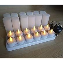 Juego de 12velas de té batería recargable luces * * Ideal para bodas, casas, restaurantes, ETC * *