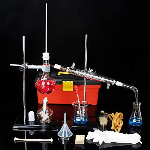 Nueva Unidad De Destilación DIY 250ml Cristalería Ciencia Industrial Destilador Agitador Magnético...