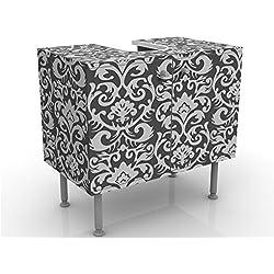 Meuble sous vasque design The 7 Virtues - Temperance 60x55x35cm, petit, 60 cm de large, réglable, table de lavabo, armoire de lavabo, lavabo, meuble bas, baignoire, salle de bains, armoire de salle bains