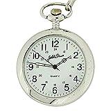 Jakob Strauss M5095.01 - Reloj de bolsillo para hombres, correa de metal color plateado