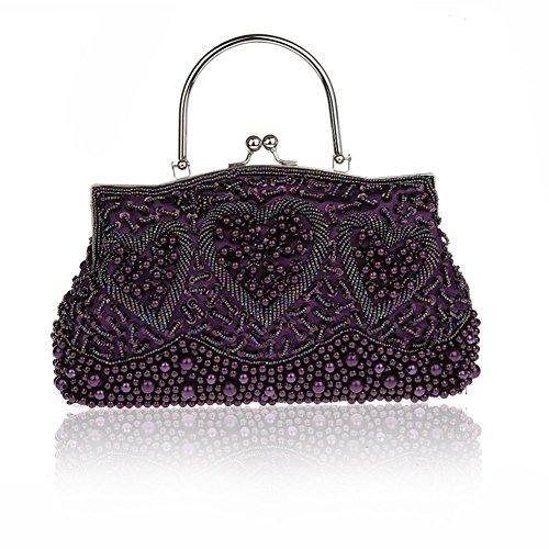 perline/A forma di cuore borsa/ stile folk spalla borsa/pacchetto Cena-B B